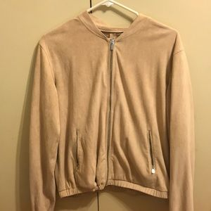 Beige/Light Pink Velour Jacket